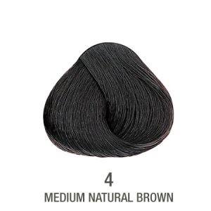 צבע לשיער ללא PPD חום בינוני