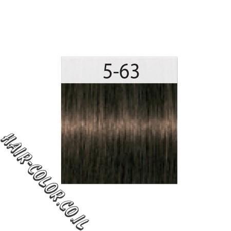 צבע לשיער חום בהיר שוקולד מנטרל אדום 5-63 שוורצקוף