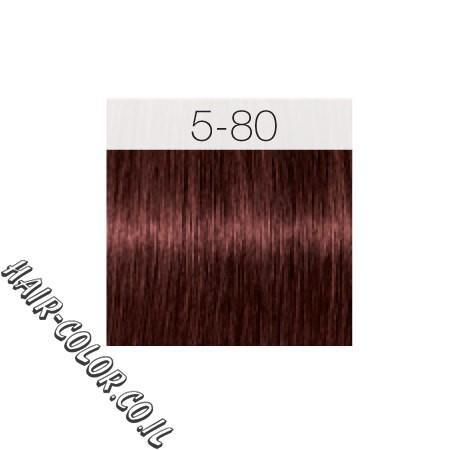 צבע לשיער חום בהיר אדום אינטנסיבי 5-80 שוורצקוף
