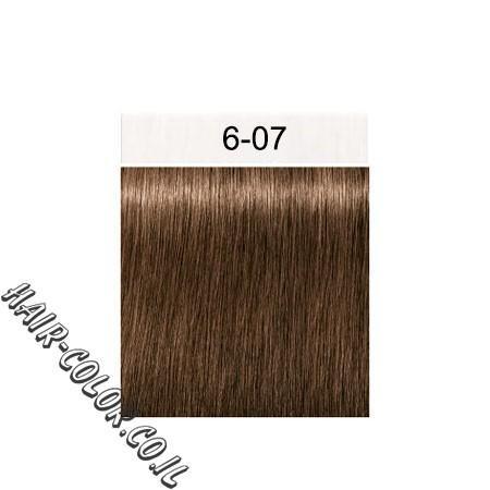 צבע לשיער בלונד כהה נחושתי 6-07 שוורצקוף