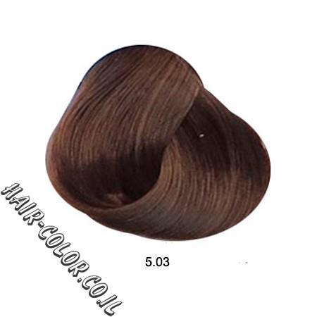 צבע לשיער ללא PPD מוזהב חום 5.03