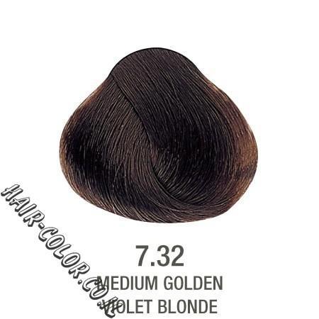 צבע לשיער ללא PPD זהב מנטרל צהוב 7.32