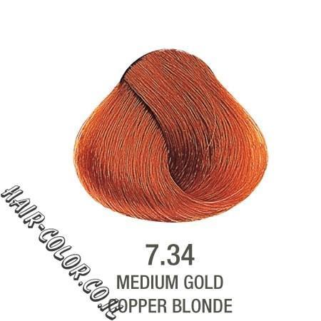 צבע לשיער ללא PPD זהב נחושת 7.34