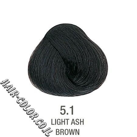 צבע לשיער ללא PPD חום אפור מנטרל צהוב 5.1
